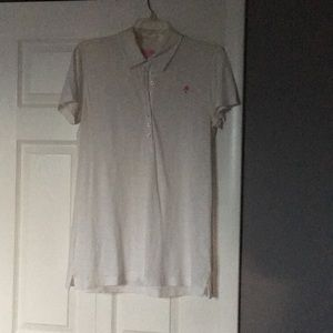 A white and pink shirt
